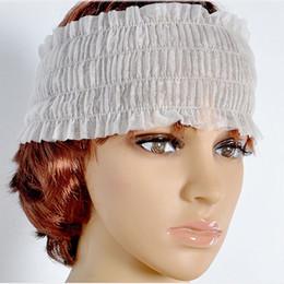 accessori dei capelli all'ingrosso giapponese Sconti Tamax HB001 100 Pz / lotto Fasce Non tessuto monouso Elastico Spa Salon Trucco Non tessuto Cura della pelle Fascia per capelli Fasce
