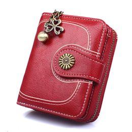 Cartera de cera, paquete de tarjeta del bolso de embrague de cuero del aceite de las mujeres de tres veces el regalo de boda desde fabricantes