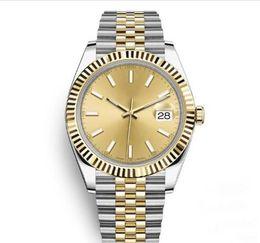 2019 simple reloj deportivo 41mm Reloj para hombre Deportes Relojes de pulsera mecánicos automáticos Dos tonos Dial dorado Diseñador Reloj de pulsera Vestido de moda Relojes casuales Sencillos rebajas simple reloj deportivo