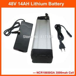 48v batteria al litio per bici elettrica Sconti US EU No Tax 48Volt E-Bike Batteria 48V 14Ah Silver Fish Lithium Battery Pack per bicicletta elettrica 750W 1000W Motor