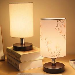 Lumières pour le mariage en Ligne-Lampe de chevet chambre bois nordique lampe Accueil créatif chaleureux simple moderne chambre de mariage nuit lumière L18