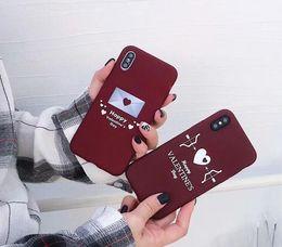чехлы для телефонов Скидка Новый Чехол для мобильного телефона бордовый лук любви Мобильный телефон стрелка рельеф все завернутые шлифовальные мягкие оболочки прилив для iPhone X XS XSmax