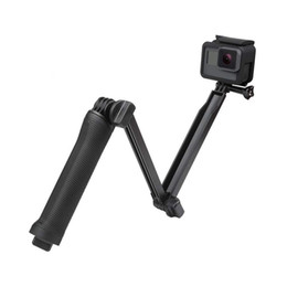 trípode pro Rebajas 3 Way Grip impermeable Monopod selfie palillo de soporte del trípode para GoPro héroe 7 6 5 Sesión SJCAM Yi 4K Go Pro accesorio de la cámara