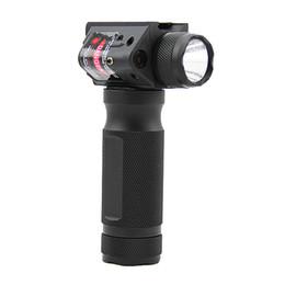 linterna sf Rebajas Luz táctica, rápida, desmontable, de agarre vertical, linterna de aluminio, pistola de caza, con láser rojo integrado