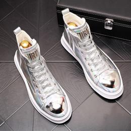 Yüksek top kurulu ayakkabı, moda sünger kek ayak bileği çizmeler, kalın tabanlı kovboy çizmeleri, ünlü rahat ayakkabılar, erkek tasarımcı mokasen 44W32 cheap celebrity boots nereden ünlü çizmeler tedarikçiler