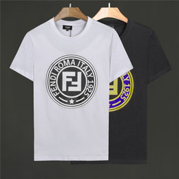ff5234e5393 Mens Luxury Designer T shirt Summer Clothing Mens Loose Breathable Striped  Latter FF Print Tee Shirt Fashion Brand Size M-3XL