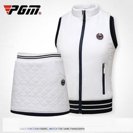 2018 PGM зимняя одежда носить осень теплый жилет толстый бархат Гольф куртки для женщин открытый жилет ветровка жилет размер S-XL от