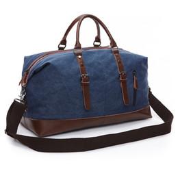 2019 übergroße totes Canvas Seesack Organizer Übergroße Reise Overnight Weekender Carry on Luggage für Männer Frauen Handtasche Reisetasche Große Tasche günstig übergroße totes