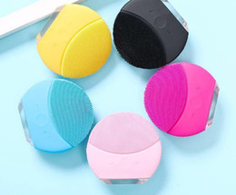 escova de massagem facial Desconto Hot Elétrica Facial Washing Massagem limpeza instrumento Escova de Limpeza Facial Sonic Rosto Limpeza Da Pele Silicone À Prova D 'Água Cuidados Com A Pele Ferramentas
