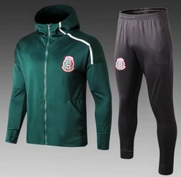 nationale hoodies  Rabatt TOP Qualität 2019 Mexiko Fußball Trainingsanzug Hoodie Jacke Set 2019 2020 CHICHARITO Nationalmannschaft Fußball Maillot de foot Trainingsanzug