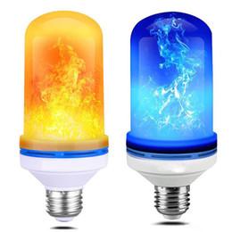 2019 огонь из лампы 7W E27 E26 B22 Лампа накаливания 85-265V LED Flame Effect Fire Лампы Мерцающая эмуляция Атмосфера Декоративная лампа дешево огонь из лампы