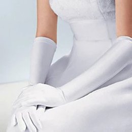Großhandelsvorrat-Hochzeits-Handschuh-preiswerte Ellbogen-Längen-Finger-Brauthandschuhe eine Größen-Hochzeits-Zusatz Freies Verschiffen SH05 von Fabrikanten
