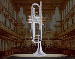 Originale Tromba Bach LT180S-37 Authentic doppio argento placcato bemolle professionali tromba Top Strumenti musicali Ottone Bugle Bb Trumpete da nuova tromba di tasca fornitori