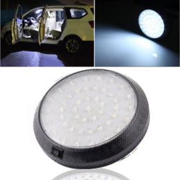 Luz de bóveda interior del coche universal online-Universal Car 12V 46 LED Techo Interior Techo Dome Puerta Indicación Luz Lámpara de Lectura Auto Festoon Light Car Styling