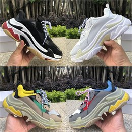 vintage sneakers women Promo Codes - Multi Platform Luxury Triple S Designer Low Vintage Outdoor Sneaker Mens Women Paris Party Casual Shoes increasing large Trainers 36-45