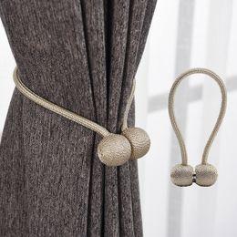 Gelbe krawattenrücken online-Magnetic Pearl Ball Vorhang Raffhalter Raffhalter Schnallenclips Zubehör Gardinenstangen Zubehör
