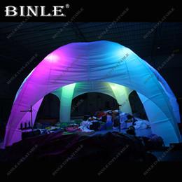 Karanlıkta Glow 10 m led aydınlatma ile şişme örümcek çadır Çim Olay Gazebo Açıkhava Reklam Gölgelik nereden büyük beyaz balon tedarikçiler