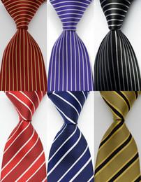 галстук фиолетовый чёрная полоса Скидка Галстуки для мужчин Silk Stripes галстук красный фиолетовый черный жаккардовый венчания партии Woven дизайна моды GZ1061021