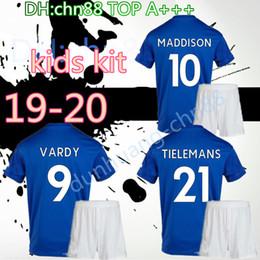 2019 rey tailandés Top tailandés 2019 para niños Leicester 2020 CITY 19 20 kit de niños camisetas de fútbol en casa 7 VARDY 9 KING 10 OKAZAKI 20 JERSEY FÚTBOL CAMISAS rey tailandés baratos
