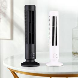 pás de ventilador elétrico Desconto Mini Venda quente USB Vertical Bladeless Fan Secretária Ar Condicionado Torre de resfriamento Fan para Home Verão Ventilador