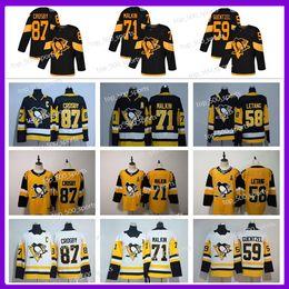 2020 Pittsburgh Penguins Jersey 87 Sidney Crosby 71 Evgeni Malkin Phil Kessel Kris Letang Lemieux Matt Murray Guentzel Hockey Jersey von Fabrikanten