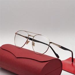 ce16b2fb63 2018 new fashion designer optical glasses 0046 retro pilot metal frame  vintage fashion style clear lens transparent eyewear