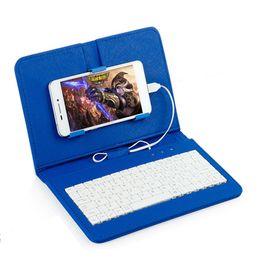 Otg per il iphone online-Custodia per tastiera con tastiera in pelle KeyboardsPU per iPhone Custodia protettiva per cellulare con OTG per custodia per custodia per smartphone Flipter 4.2 '' - 6.8 ''