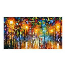 """Restaurante pintura decorativa online-Romántico caminando en la selva, estilo europeo, pintado a mano, pinturas al óleo, restaurantes, sala de estar, sofá, pintura decorativa, 36 """"x48"""""""