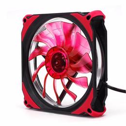 cassa del dissipatore Sconti 120mm LED Ventilatore silenzioso PC Computer Chassis Ventola Dissipatore Dissipatore Raffreddamento Rosso + nero