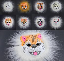 2019 máscara de máscara completa EVA Pelúcia Máscara Animal Adultos Criança Máscara Facial Leão Tigre Fox Carnaval Horror Cosplay Masquerade Máscaras Prank máscara de máscara completa barato
