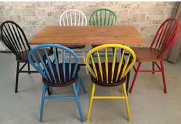 2019 einfache wohnmöbel LOFT American Country Vintage-Möbel, schmiedeeiserne Barstühle Massivholz Esstische und Stühle Pfau Stuhl Freizeitstuhl