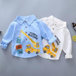 Tamaños de camiseta para niños diseños de camisas para niños de manga larga 2019 bebé otoño diseñador para niños camisa de impresión Ropa de marea coreana ropa para niños desde fabricantes