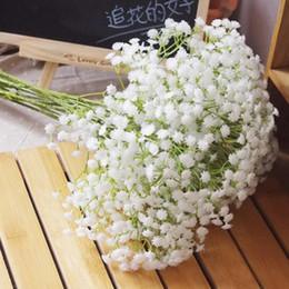 6 Unids Blanco Aliento de Bebé Flores Artificiales para Decoración de Bodas Suministros para Fiestas de Eventos Flores Decorativas de Alta Calidad desde fabricantes