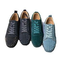 Top qualité Designer Bas Rouge Talons Baskets Cloutés Spikes Flats Chaussures Designer luxe Bas Rouge Pour Hommes Femmes ? partir de fabricateur