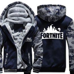 367e9b8a Men fortnite coat 4 colors man fortress night cardigans boy designer sports  camouflage fleece sweater jacket hoodies M-5XL Big plus size