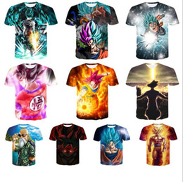 2019 dragone ragazzo z Uomini Dragon Ball T-Shirt big boys dragon ball 3D uomo stampa top tees Z Goku Casual T-Shirt Menshort Manica Corta KKA6481 sconti dragone ragazzo z