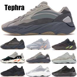 2019 nuevas zapatillas kanye west Inertia adidas yeezy 700 Kanye West Wave Runner Utility Negro Hombres Mujeres Zapatillas de deporte Nuevas zapatillas de running reflectantes Tephra V2 Tamaño 5-11.5 nuevas zapatillas kanye west baratos