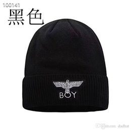Brand BOY beanies Knitted Hat Designer Champion Winter Warm Thick Beanie  Fedora gorro Bonnet Skull Hats for Men women Crochet Skiing Cap hat e6bd47f3981b