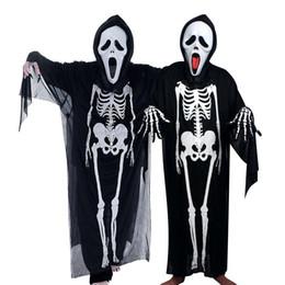 Hayalet Festivali İskelet Seti Cadılar Bayramı Cosplay İskelet Korku Kostüm Maskeli Yetişkin Çocuklar Tasarımcı Korku Maskesi Giyim Üç Parçalı Set nereden
