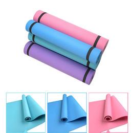 Cobertor de pvc on-line-4MM PVC Yoga Mats anti-derrapante Blanket PVC Ginástico Esporte Saúde perder peso fitness exercício Pad Mulheres Esporte Mat Yoga