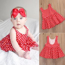 eecd9372588 Cute Infant Red Polka Dot Mini Dress Fashion Baby Girl Sleeveless Short  Outfits Toddler Summer Clothes