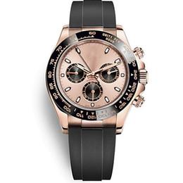 bandas de vigilancia militar Rebajas Hombre nuevo deportivo militar reloj de negocios mecánico automático reloj de los hombres de cerámica bisel de goma negro para hombre relojes relojes 116519 116509