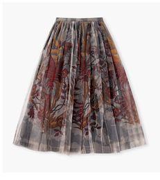 2019 falda cola sirena falda interior 2020 nueva falda POMPON una línea + negro para mujer de Europa y los Estados Unidos de impresiones falda de la pantalla