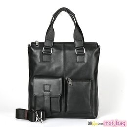 bolsa de maleta vertical Desconto Mans Tote da forma Pastas Vertical Praça macia bolsa de couro Negócios Ombro Cow Leather Bag Silt bolso Briefcase