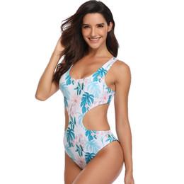M klammern online-Frauen Doppelseitige Badeanzüge Sexy Durable Solide Hohe Taille Niedriger Rücken Mit Brustpolster