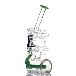 """Pipas de fumar jade online-Tubería de agua de vidrio bongs nueva hermosa boquilla de jade plataforma petrolífera difusor de plataformas de humo, altura aproximadamente 10 """""""