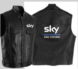 Canada Veste en cuir de cyclisme de la mode ciel pro noir veste en cuir moto hip hop veste sans manches pour hommes supplier black cycling vest Offre