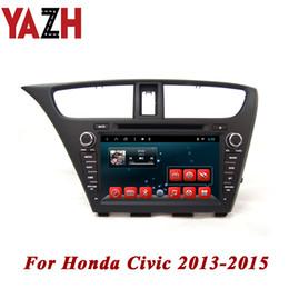 honda civic lettore mp3 Sconti Lettore DVD per auto Android 8.1 YAZH per Honda Civic Hatch Back 2013 2014 2015 Lettore dvd per auto radio stereo da 32 GB GPS Multimedia