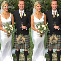 Mantel romantische brautkleider online-2019 Günstige Mantel Brautkleider Satin Brautkleider Vestidos De Novia Romantische Brautkleider