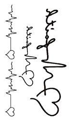 Argentina Tatuaje falso Tatuaje Temporal Impermeable Etiqueta engomada del arte corporal letras amor Latido del corazón ola tatuaje flash tatuajes falsos para las mujeres niña 4 supplier temporary body stickers letters Suministro